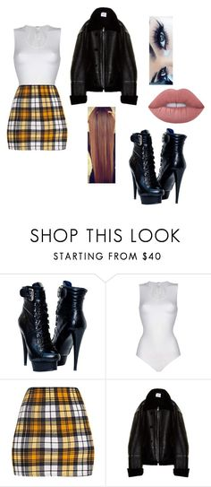 """Untitled #505"" by phie-phie ❤ liked on Polyvore featuring Wolford, Vetements and Lime Crime"
