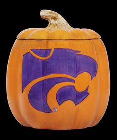 Take a look at this Kansas State Pumpkin Candy Jar by Cumberland Designs on #zulily today!