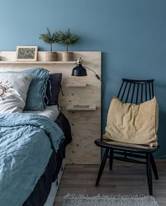 Bedroom Bed Design, Home Decor Bedroom, Mexican Bedroom, Home Fix, Headboards For Beds, My New Room, Plywood Headboard, Bookshelf Headboard, Comforters