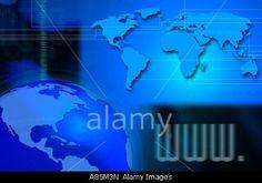 WWW INTERNET EARTH GLOBE COMMUNICATION BROADBAND TECHNOLOGY COMPOSITION Stock Photo