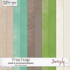 FREE HUGS | solids & embossed papers by Bellisae Designs