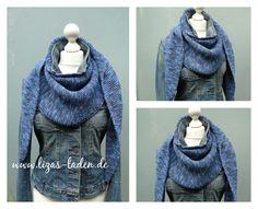 """Schultertuch """"Baktus"""" - nach dem Design von Strikkelise. Garn: Lana Grossa Cool Wool Print"""