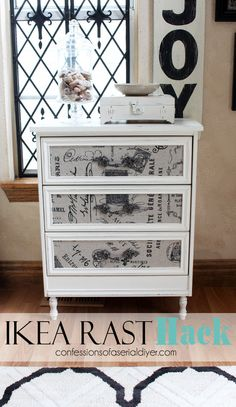 This was my first ever IKEA hack. When the generous people at Hickory Hardware offered to provide this piece for me to makeover to show off their gorgeous drawe…