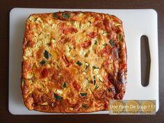 Clafoutis aux courgettes & tomates cerises - Une Faim De Loup ! ! ! Zucchini Pizzas, Cake Factory, Batch Cooking, Lasagna, Entrees, Breakfast, Healthy, Ethnic Recipes, Desserts