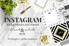 Black&white - Instagram Designs by Bye Boss! on @creativemarket