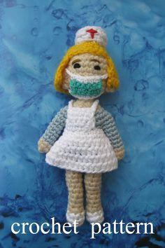#amiguruminurse #amigurumidoll #dollnurse #crochetdoll #crochetnurse #dollpattern #crochetpattern #pletionica #giftfornurse Crochet Patterns Amigurumi, Amigurumi Doll, How To Make Toys, Crochet Instructions, Crochet Basics, Nurse Gifts, Crochet Gifts, Pin Pin, Dolls