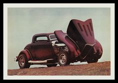 1934 Ford Coupe Show car, 1976, via Flickr.
