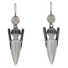 A Brandt and Son - Victorian Sterling Silver Dangling Urn Earrings