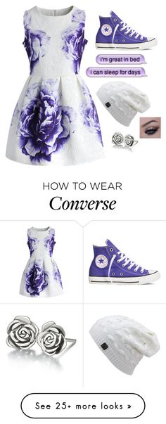 """""""Untitled #2613"""" by if-i-were-famous1 on Polyvore featuring mode, Converse, Chicwish et Chamilia"""