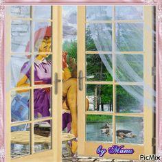 Terza mattina di pioggia glitter gif co pinterest - La finestra viola ...