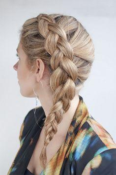 Прическа голландская коса #ЖенскиеПрически, #Коса http://www.salon-akadem.info/pricheska-gollandskaya-kosa.php