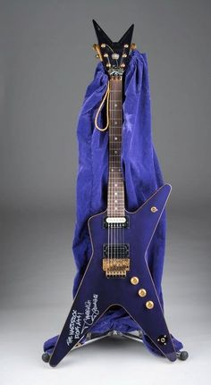 Dean ML dean, dimebag and crown royal collaborated to make this guitar