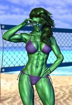 #She #Hulk #Fan #Art. (Little Miss She-Hulk) By: TreyDavidWood. (THE * 5 * STÅR * ÅWARD * OF: * AW YEAH, IT'S MAJOR ÅWESOMENESS!!!™) ÅÅÅ+