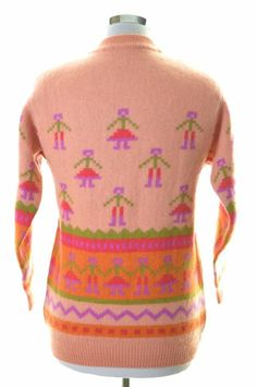 ab399beb69 vtgs 80s 90s UNITED COLORS OF BENETTON reindeer sweater LARGE green ...