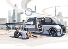 future transport design Future Concept Cars, Future Car, Van Design, Car Design Sketch, Car Backgrounds, Plan Sketch, Industrial Design Sketch, Presentation Design, Transportation Design