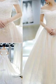 White Main Wedding Dress Sen Department Wedding Dress Off-the-shoulder Wedding Dress Lace Tulle Wedding Dress Lace Evening Dresses, Wedding Dresses, Off Shoulder Wedding Dress, Custom Made, Off The Shoulder, Tulle, Store, Color, Fashion