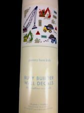 POTTERY BARN KIDS BUSY BUILDER WALL DECALS SET NEW CONSTRUCTION TRUCKS CARS BOYS