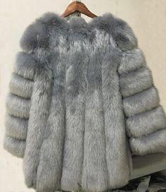 Collared Warm Long Sleeve Ladies Mink Long Jacket Faux Fur Coat UK size 6 10 14