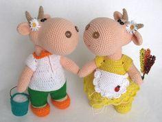 Амигуруми: Корова. Бесплатная схема для вязания игрушки. FREE amigurumi pattern. #амигуруми #amigurumi #схема #pattern #вязание #crochet