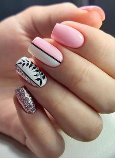 Nail Tip Designs, Nail Art Designs Videos, Acrylic Nail Designs, Classy Nails, Simple Nails, Trendy Nails, Dream Nails, Love Nails, Milky Nails