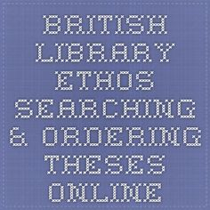 ... library national e-theses service for the 875. From british by