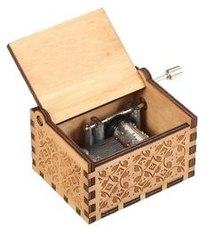 Wood Music Box Mini Vintage Engraved Hand-Operated, Cfjump.com - DealsPlus