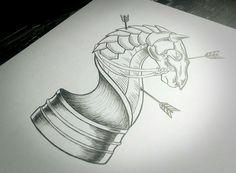 Chess Horse - by: Túlio Vieira - Instagram: @nohugsttt