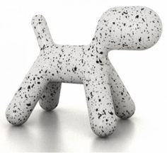 Chien Puppy Medium Dalmatien Chien abstrait en polyéthylène. medium. Conçu pour l'extérieur. Designer : EERO AARNIO Marque : MAGIS Dimensions : L34 H45 P56,5 cm #Jbonet #design #Magis