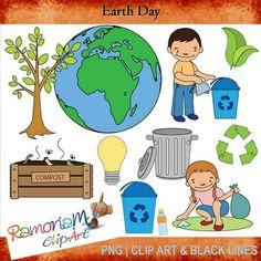 EARTH DAY CLIPART - TeachersPayTeachers.com