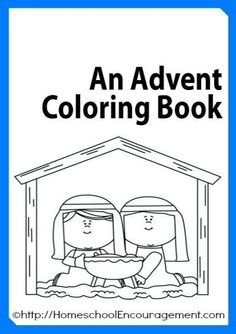 Free Advent Coloring Book plus 100′s of Advent Coloring Pages Linked!