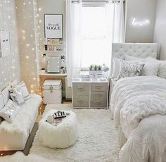 bedroom decor for small rooms ~ bedroom decor ; bedroom decor for couples ; bedroom decor ideas for women ; bedroom decor for small rooms ; bedroom decor ideas for couples ; Teenage Room Decor, College Room Decor, Teenage Girl Bedrooms, Cool Teen Bedrooms, Rooms For Teenage Girl, Small Girls Bedrooms, Bedroom Decor For Teen Girls Dream Rooms, Light Pink Bedrooms, Teen Girl Decor