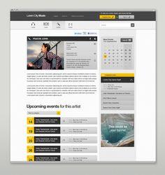 Event & Music Website by Martin Oberhäuser, via Behance
