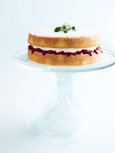 classic sponge cake with jam and cream from donna hay