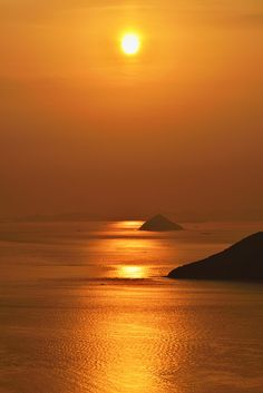 Sunset in Seto Inland Sea, Kagawa, Japan