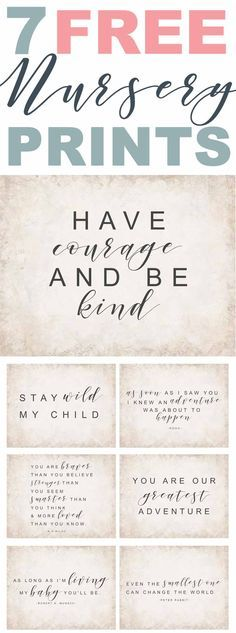 Free Nursery Printables-Farmhouse inspired nursery decor-Nursery sayings and quotes-www.themountainviewcottage.net