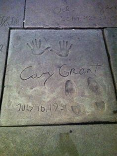 Cary Grant's prints at Grauman's Chinese Theater