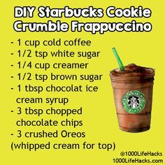 Whilst you are hunting for gourmet coffee or an associated food and drink accessory it is essential that you make use of the large number of articles that are Starbucks Hacks, Starbucks Secret Menu Drinks, Milk Shakes, Starbucks Cookies, Starbucks Frappuccino, Smoothies, Frappe Recipe, Snack Hacks, Coffee Recipes