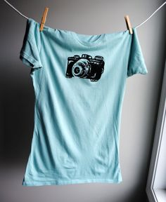 Vintage Camera T-Shirt WrenWillow on etsy $28.00