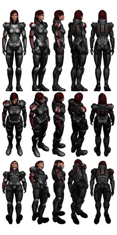 Mass Effect 3, Female Shepard N7 Armour Reference. by =Troodon80 on deviantART