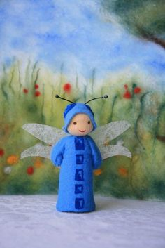 Made to Order: dragonfly child / springtime / waldorf inspired / natural table. $18,00, via Etsy.