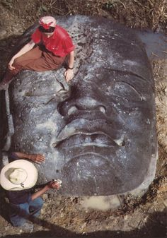 Other common images in Olmec art include religious spirits such as the corn god, rain god, spirit of the eagle, and spirit of the snake. Sometimes when making portraits of rulers they would portray them as part human and part beast to make them a supernatural creature. These giant head sculptures are still being uncovered in Mexico to this day. -- Art