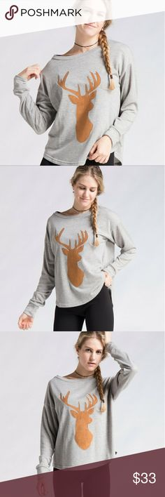 **COMING SOON!**  GREY Reindeer top! Super cute grey reindeer top.  Please let me know if you are interested by tagging your name in the comments .   I will have 1small 1medium and 1 large. Tops