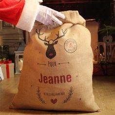 La Hotte personnalisable pour un Noel magique. #noel  #noeldeco #enfants #cadeau #cadeauxnoel #idéecadeau