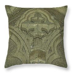 All Throw Pillows - The Cross Throw Pillow by Lovina Wright