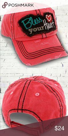 8a60d0d057654 Bless your heart Women s baseball hat ~ Adorable NWT