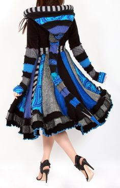 This woman makes such wonderful coats and dresses from upcycled sweaters! enlightenedplatypus.etsy.com