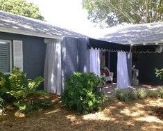 Love these beautiful and functional Sunbrella outdoor curtain panels.