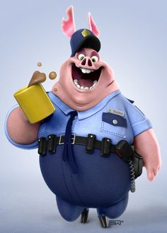 Pig On Duty by sKasse on deviantART