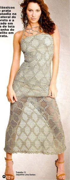 Vestido Maxi Tejido Patron - Patrones Crochet