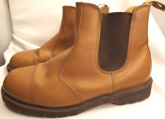 VTG Dr. Marten's Brown AirWair Bouncing Sole Work Boots Made in England Men's 11 #DrMartens #WorkSafety